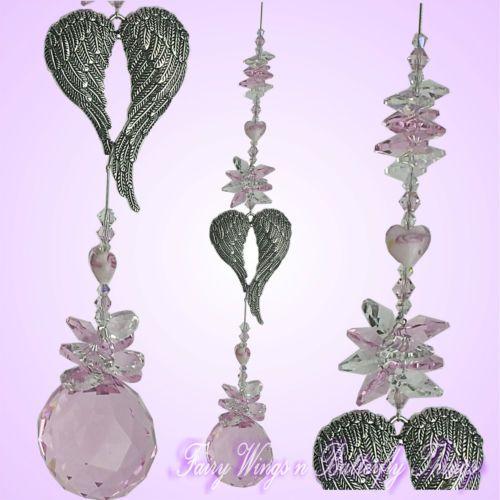 FWBT Angel wing CRYSTAL SUNCATCHER large.handmade valentines love wedding baby gift $29