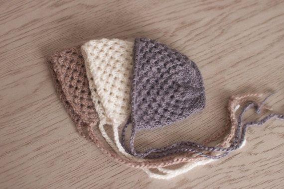 Newborn Hat Knit Newborn Bonnet Alpaca Bonnet by bluestonesky