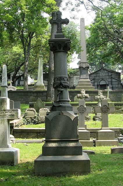John Astor IV, RMS Titanic disaster victim in Trinity Churchyard, NY