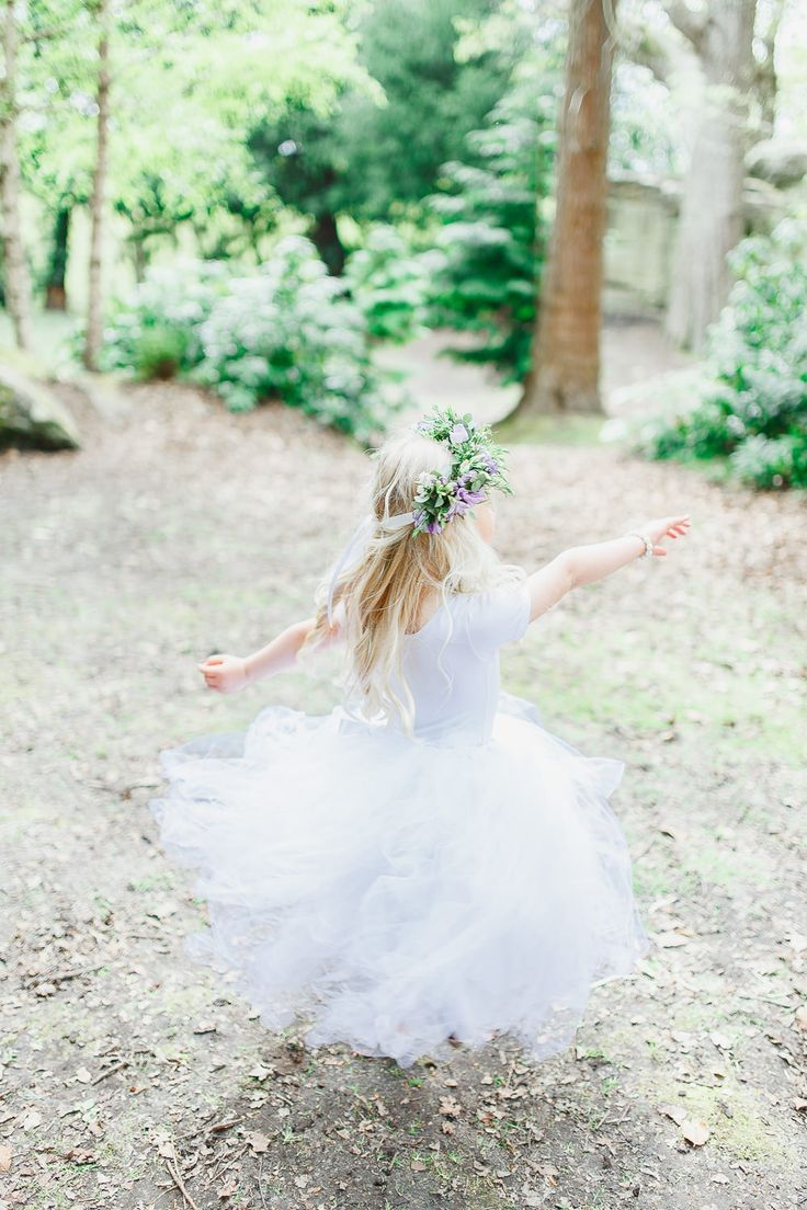 Flower Girl - Railway Inspired Wedding | Outdoor Humanist Wedding Ceremony National Trust | White Stag Wedding Photography