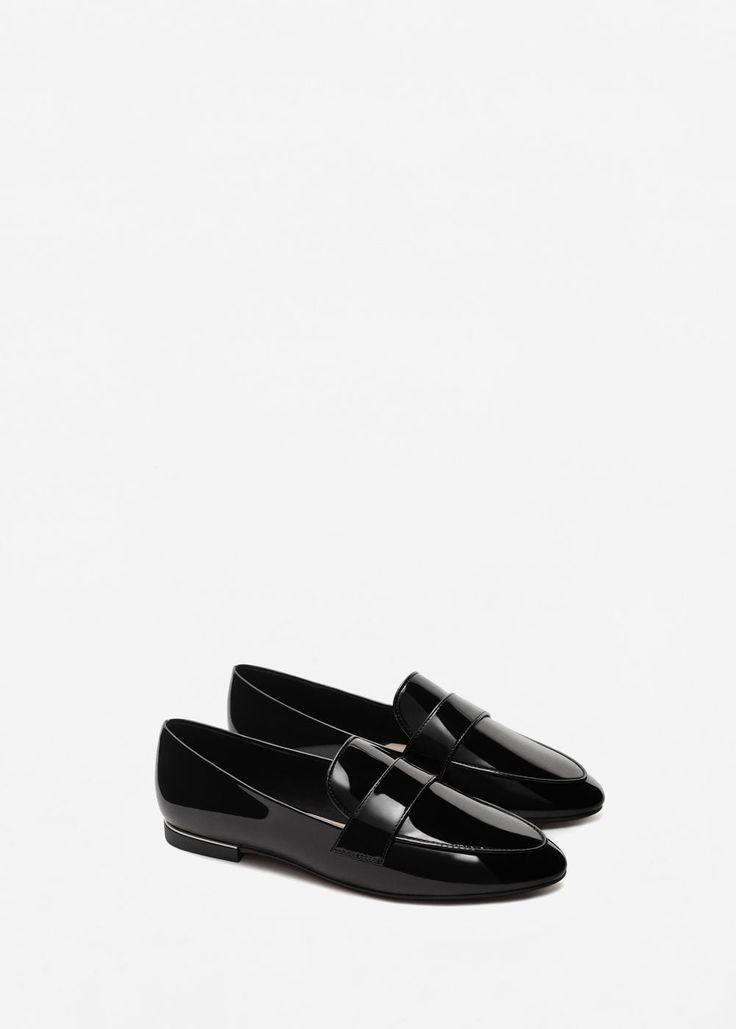 Mocasín charol - Zapatos de Mujer | MANGO México