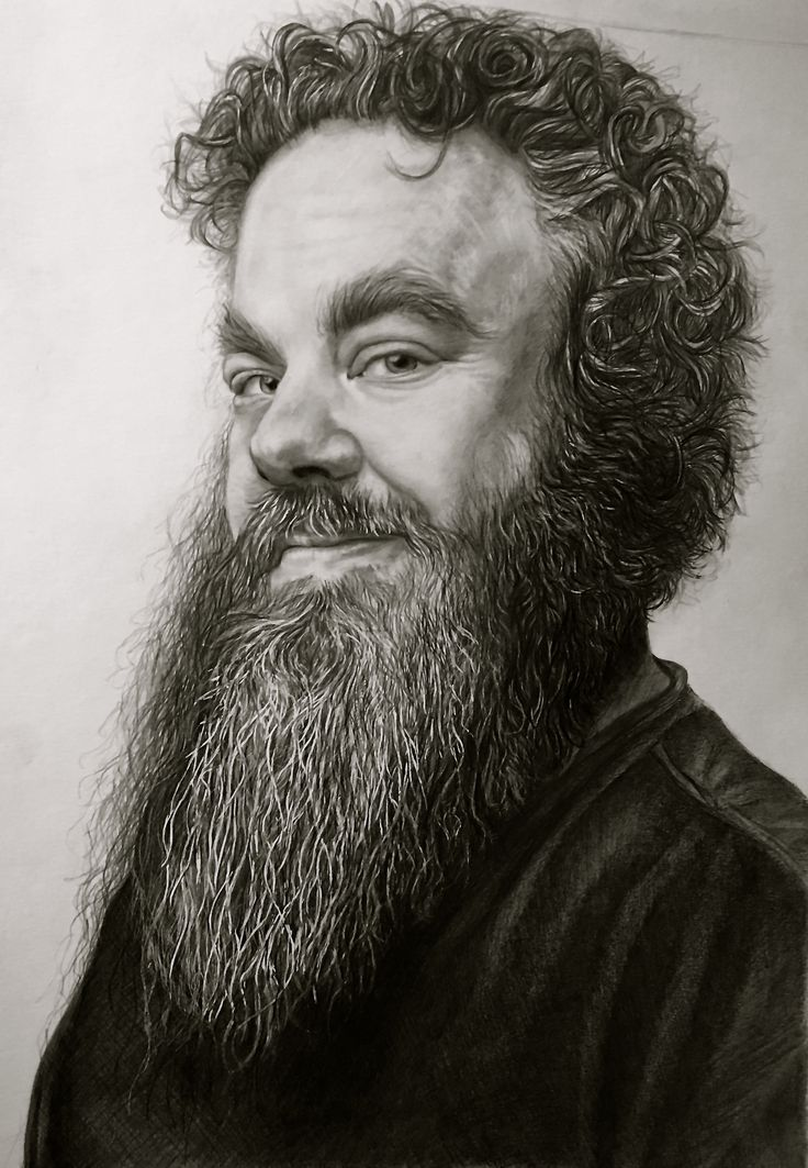 """""""Master of Words"""" - Graphite Drawing by Lauren Gowler."""
