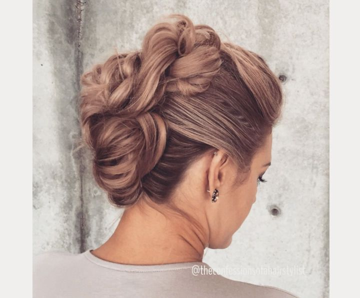 1000 Ideas About Wedding Hairstyles On Pinterest: 1000+ Ideas About Faux Hawk Updo On Pinterest