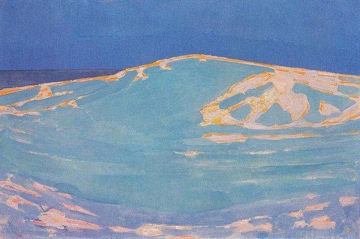 Summer Dune in New Zealand, 1910, Piet Mondrian.