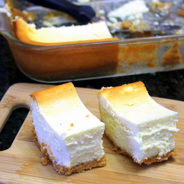 Inspired By eRecipeCards: EggNog Cheesecake Bars - Church PotLuck Dessert