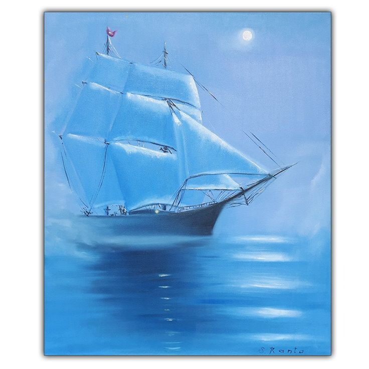 """Oil Painting """"Ship"""""""