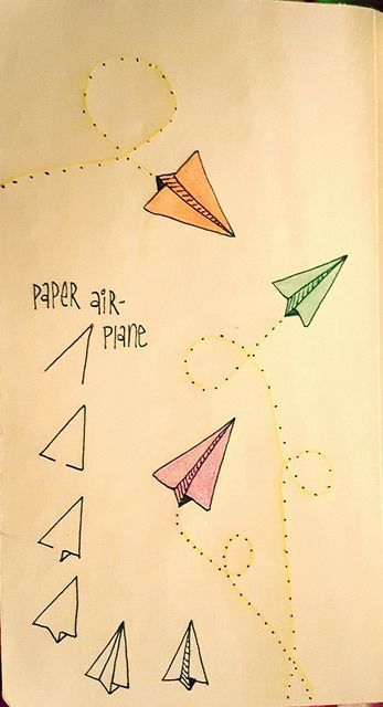 Paper airplanes are fun to draw | Linda Rea | Flickr #plannergirl #bujo #lbloggers