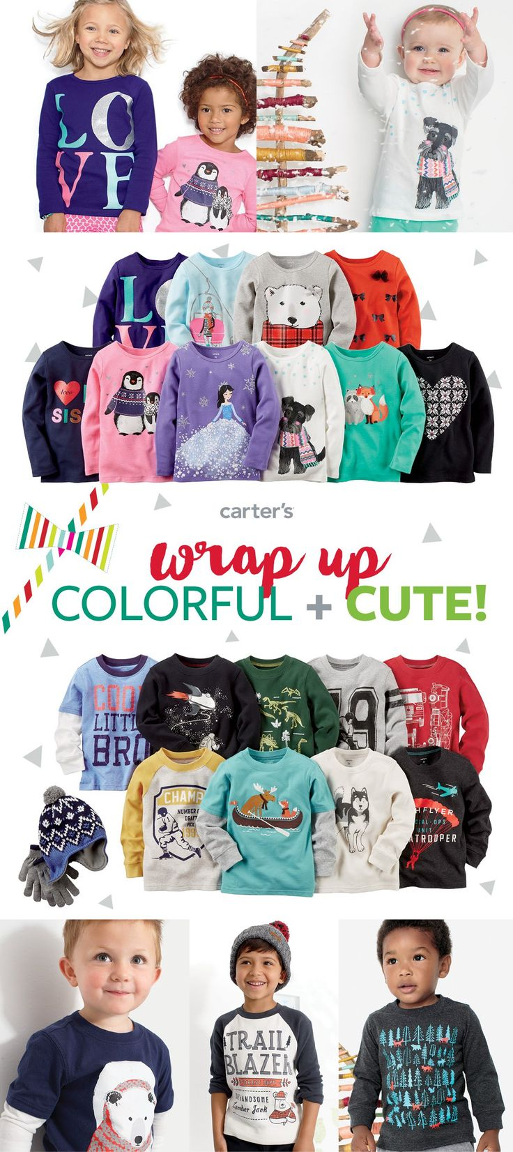 Mix & match her favorites + collect them all for him! Fun graphics add personality. Great value makes it easy. Comfy style makes it a winner!