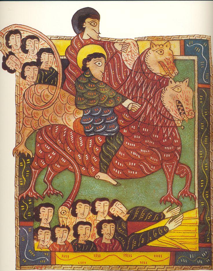 "The Escorial Beatus is a 10th century illuminated manuscript of the Commentary on the Apocalypse by Beatus of Liébana"" Apollo-WordVirusBlogspot"