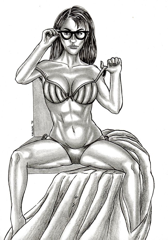Sexy Woman N°7 (2014) | Joaquin Maldonado | obrasdemaldok.com | #woman #sexy #model #drawings #7