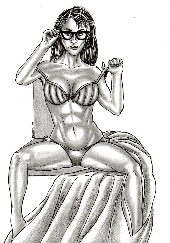 Sexy Woman N°7 (2014)   Joaquin Maldonado   obrasdemaldok.com   #woman #sexy #model #drawings #7