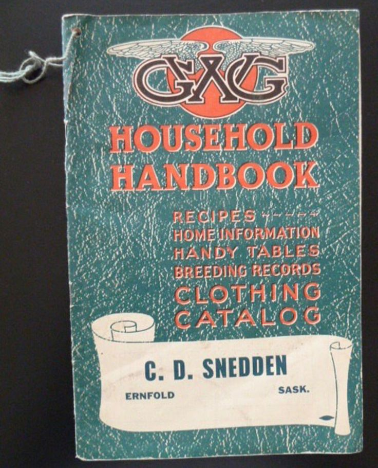 GWG Great Western Garment Co Household Handbook Clothing Catalog 1943 Ernfold SK #GWG