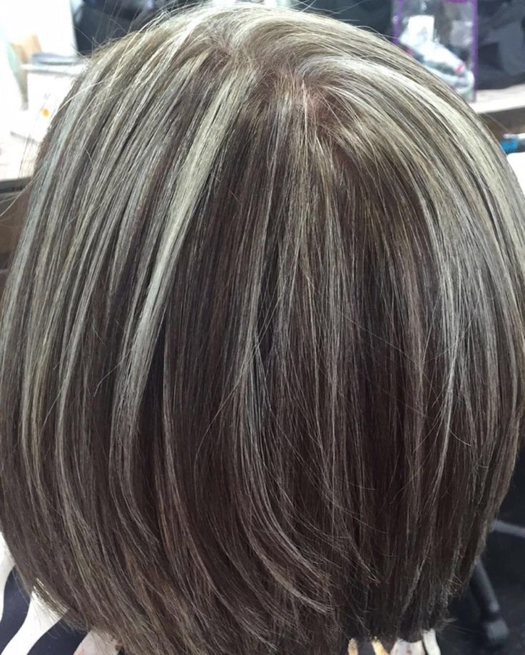 I have a client that wants to go completely Silver/White. And over some time I've added more and more baby-lights as I've gone through to retouch her hair...we have come to a point where we both agree that this looks naturally like salt/peppered hair.  . #NoFilter #Wella #Redken #pravana