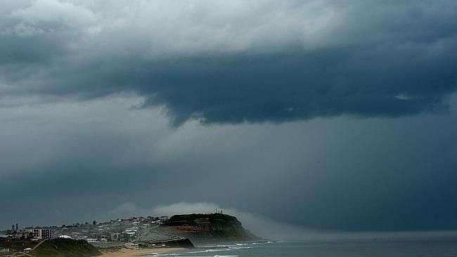Storm, Newcastle, Australia. March 2014