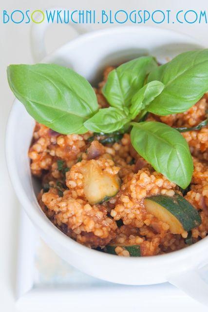 Millet with Zucchini and Tomatoes / Kasza jaglana z cukinią i suszonymi pomidorami