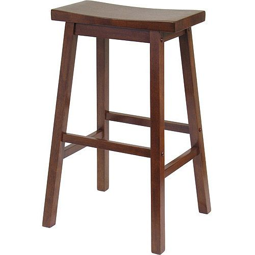 Found it at Wayfair - Bar Stool - Saddle Seat 29 in Walnut  sc 1 st  Pinterest : cheap saddle stools - islam-shia.org