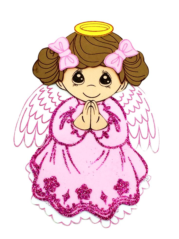 "8"" Pink Angel Foami #FM35GR - Joyful Events Store #babyshower #babyshowerfoami #foamifigurines #diy"