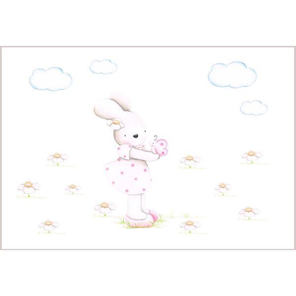 Decoraci n infantil il mondo di alex papel mural efecto - Papel pintado a mano ...