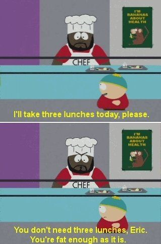And here's chef not taking any shit with cartman