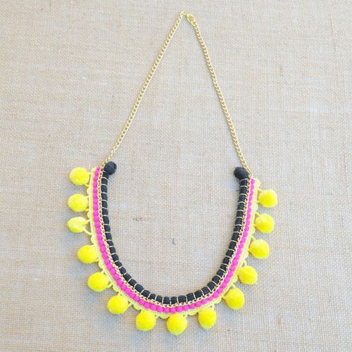 Gypsy Black and Yellow Necklace