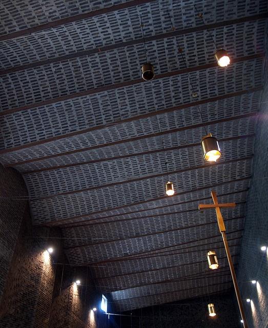 sigurd lewerentz, stockholm august 2005 st marks church, bjorkhagen, stockholm, architect sigurd lewerentz 1956-1963.