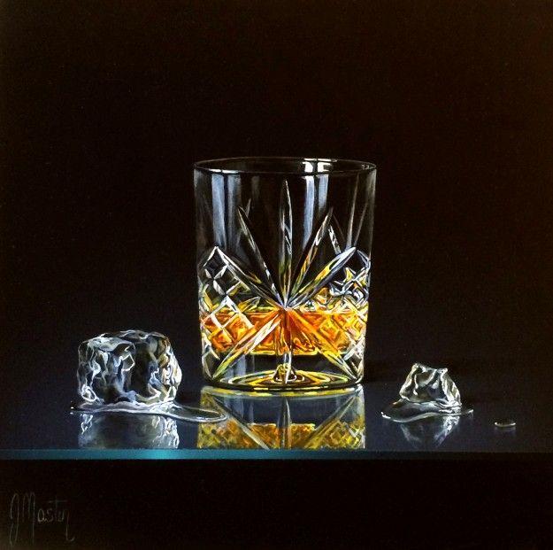 Ian Mastin On The Rocks Acrylics 9.5x9.5 | Scottish Contemporary Art