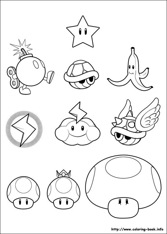 Super Mario Bros Coloring Picture To Use For Patterns