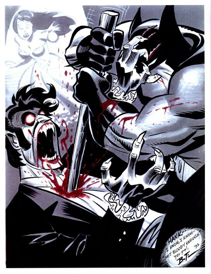 Bruce Timm Batman vs Vampire
