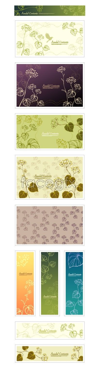 Plant pattern background, fresh and elegant vector