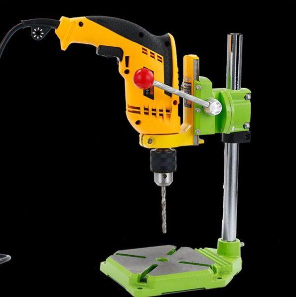 Bench Drill Stand/Press Mini Electric Drill Carrier Bracket 90° Rotating Fixed  #MINIQ