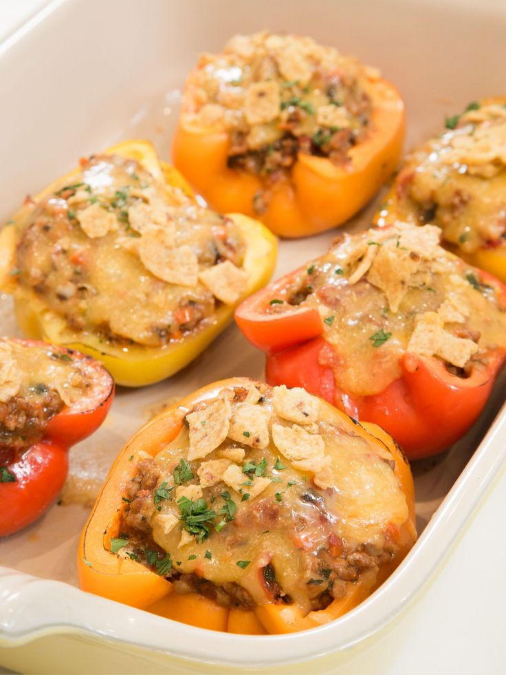Get this all-star, easy-to-follow Sloppy Joe-Stuffed Peppers recipe from Ayesha Curry