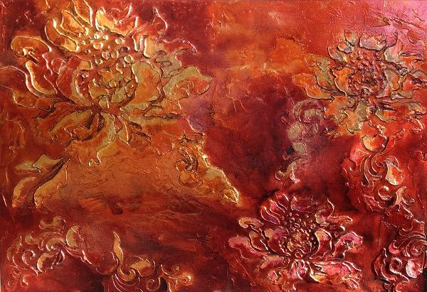 Grand Flora colour ruby orange size 1800mm x 1000mm