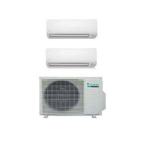 #Climatizzatore #Daikin Kit Dual, 9000 + 9000 BTU, tecnologia PAM #inverter e compressore Swing, pompa di calore
