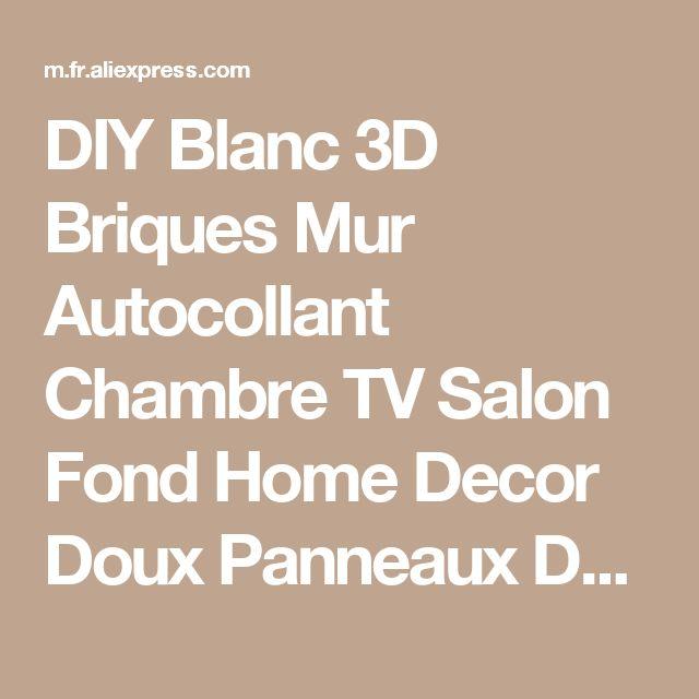 DIY Blanc 3D Briques Mur Autocollant Chambre TV Salon Fond Home Decor Doux Panneaux De Mousse Papier Peint Adesivo De Parede de la boutique en ligne | Aliexpress mobile