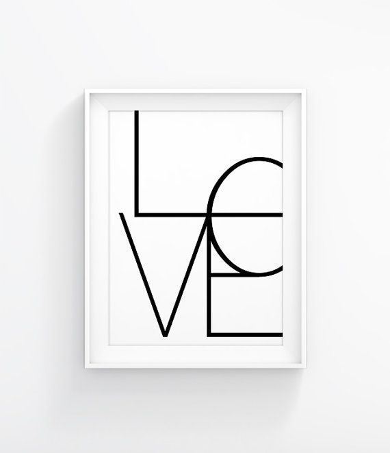 Black and White, Love Art Wall Decor,  Love Print, Love Poster, Black Art, Black Wall Art 034