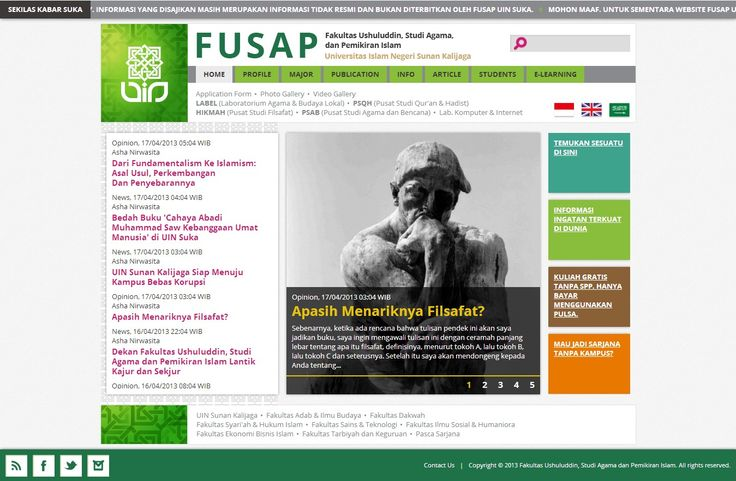 Fakultas Ushuluddin Dan Pemikiran Islam UIN-SUKA Website #SystemAnalyst #BackendDeveloper #FrontendDeveloper