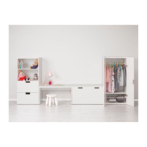 STUVA Aufbewahrung mit Bank - weiß/weiß - IKEA