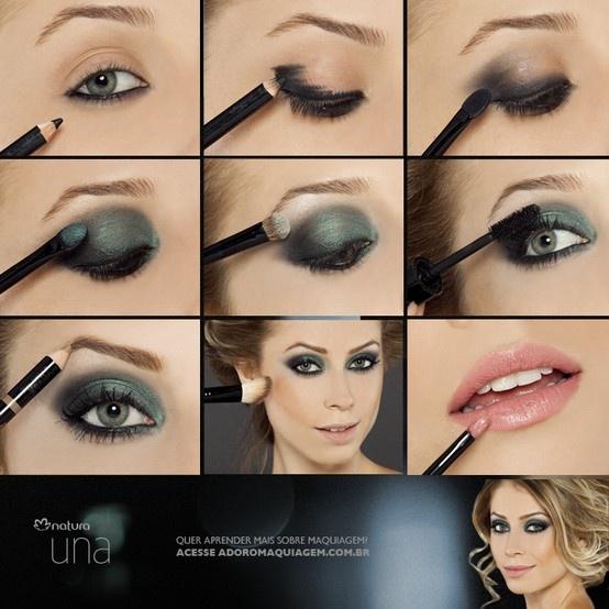 O verde-esmeralda é a tendência dessa estação. Por isso, Maquiagem Natura criou 3 looks diferentes, utilizando apenas um Quarteto de sombras. Confira todos no blog http://www.adoromaquiagem.com.br/dicas-maquiagem/novidades-tendencias/esmeralda-a-cor-do-outono/17383/ #look #maquiagem #tendencia