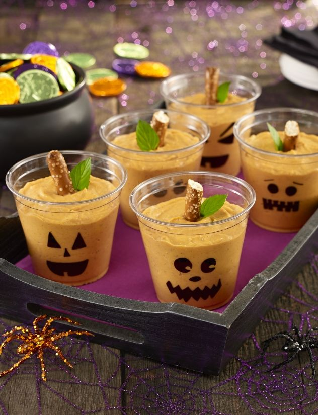 halloween pumpkin pudding cups - Best Halloween Dessert Recipes