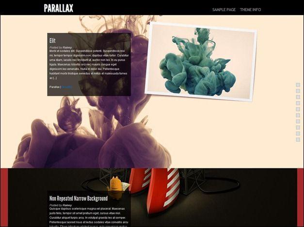 Parallax - Wordpress theme