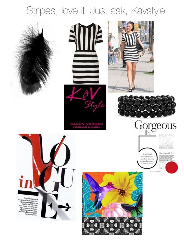 """""""Stripes"""" by karen-svar on Polyvore featuring moda, Topshop, Bling Jewelry y kavstyle"""