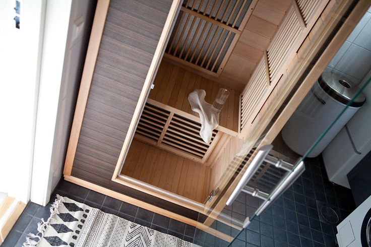 Infrared sauna is the perfect solution for smaller homes. The sauna is easy to assemble.