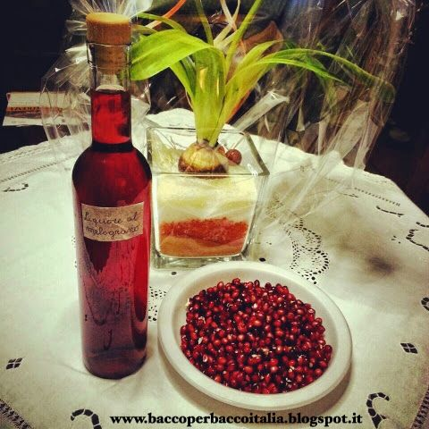 #Ricettedibacco Estratto di Liquore al Melograno.