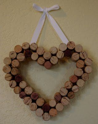 Super cute! - wine cork heart Great gift idea for the wine drinker in your life. www.devinelockets.origamiowl.com #wine #cork #heart
