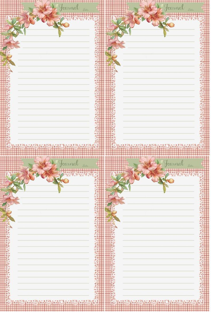 Journal Cards ~ free printable from Glenda's World