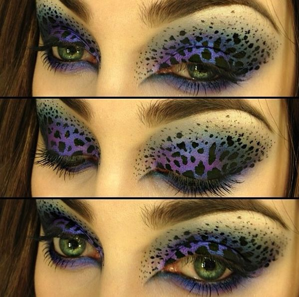 dramatic print eye makeup cant wait for halloween - Eyeshadow For Halloween