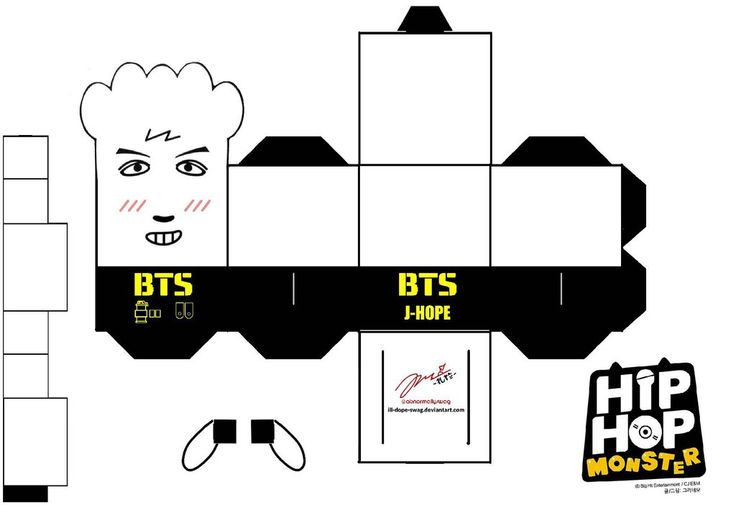 BTS Hip Hop Monster J-Hope Papercraft by ill-dope-swag.deviantart.com on @DeviantArt