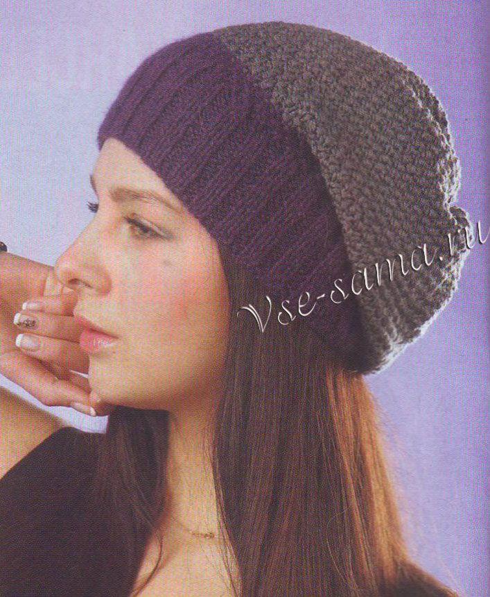 Двухцветная шапка-носок, фото
