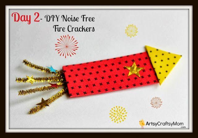 Diwali firecracker craft1 40+ Diwali Ideas Cards, Crafts, Decor, DIY crafts India Crafts Diwali