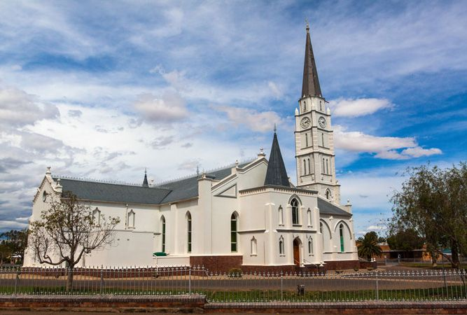 Dutch Reformed Church in Aberdeen with the highest steeple in South Africa